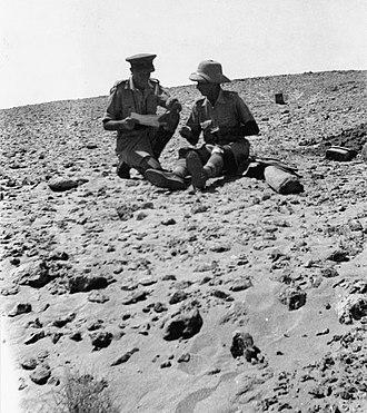 Howard Kippenberger - Kippenberger (left) and Lieutenant Colonel Sam Allen, the commander of the 21st Battalion, July 1942