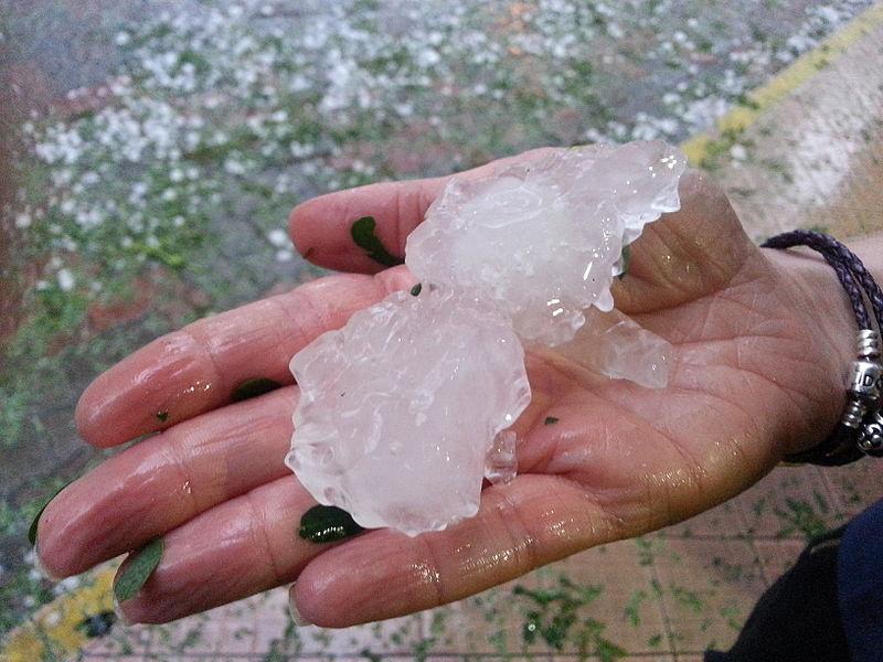 File:Brisbane November 2014 Hailstorm - Hailstones.jpg