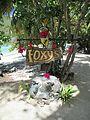 British Virgin Islands — Jost van Dyke — Foxy's Bar street sign.JPG