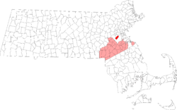 Location as an exclave of Norfolk County in Massachusetts