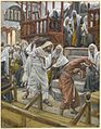 Brooklyn Museum - Jesus Chases a Possessed Man from the Synagogue (Jésus chasse un possédé de la synagogue) - James Tissot.jpg
