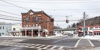 Marathon (village), New York - Broome St and Main St in Marathon Village