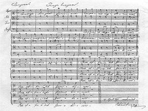 Pange lingua, WAB 31 - Autograph manuscript of the work (1891 version)
