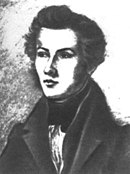 drawn portrait of Bruno Bauer