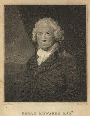 Bryan Edwards (politician) - Bryan Edwards, engraving by Thomas Holloway, after Lemuel Francis Abbott.