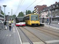 Bus, tram und subway stop/station Buerer Straße.