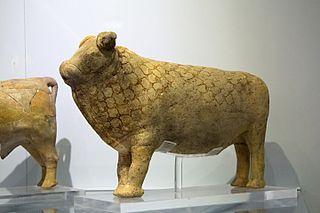 Bull rhyton from Pseira, Crete