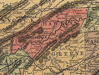 "Bulls Gap, Tennessee - Bulls Gap after being renamed ""Rogersville Junction,"" circa 1882"