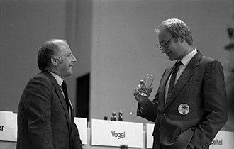 Edmund Stoiber - Norbert Blüm and Edmund Stoiber in 1981