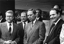 1989 wolfgang schuble front centre german federal minister of the interior - Wolfgang Schauble Lebenslauf