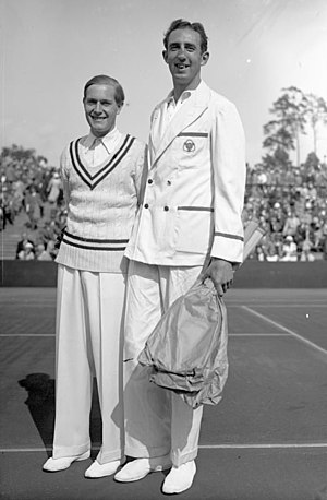 Gottfried von Cramm - Gottfried von Cramm (left) and George Lyttleton-Rogers of Ireland in 1932