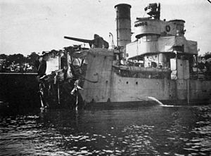 B 97-class destroyer - B 98 after having been mined in 1917