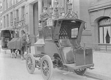 German Electric Car 1904 With The Chauffeur On Top