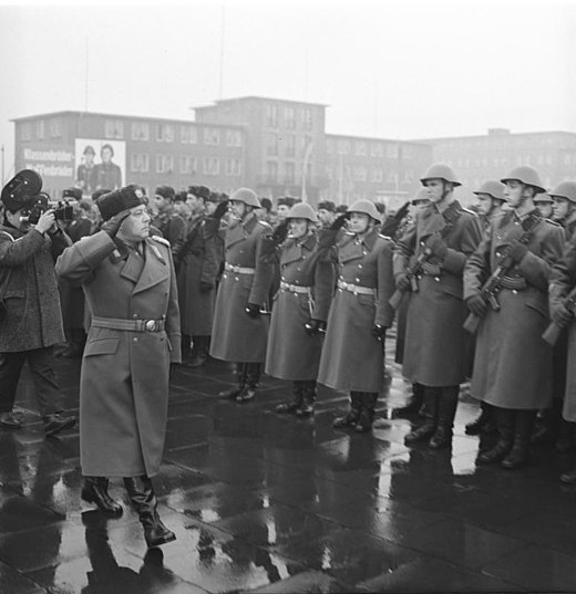 Erich Mielke at the awarding of the name of Feliks Edmundovich Dzerzhinsky on 15 December 1967 - Felix Dzerzhinsky Guards Regiment