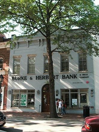 Alexandria Historic District - Image: Burke & Herbert building on King St