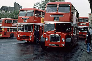 Bristol Commercial Vehicles - A VRT/SL of 1969 (centre left) and an FS of 1966 (centre right).