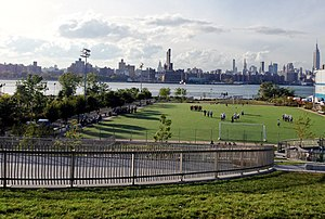 Bushwick Inlet Park from Community Center Roof crop.JPG