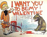 Buster Brown Valentine postcard by Richard Fel...