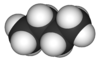 Spacefill model of butane