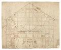 Byggnadsritning på vattenkvarn, 1600-tal - Skoklosters slott - 98978.tif