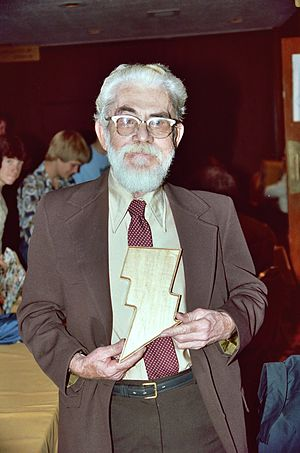 DC Comics - Captain Marvel creator C. C. Beck (1910-1989) at the October, 1982 Minneapolis Comic-Con