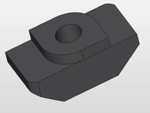 T-slot nut - Image: CAD model of a T Nut 1