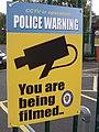 CCTV in operation - Police Warning - You are being filmed - West Midlands Police (6203986547).jpg