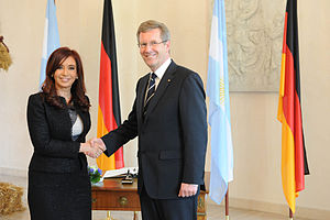 Argentina–Germany relations - Former President Cristina Fernández de Kirchner and former President Christian Wulff.