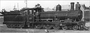 CGR 5th Class 4-6-0 1891 - No. 134 with extended smokebox, c. 1910