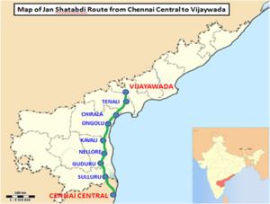 Chennai CentralVijayawada Jan Shatabdi Express Wikipedia
