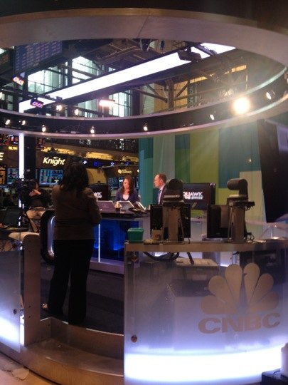 CNBC Squawk on the Street studio set 201207