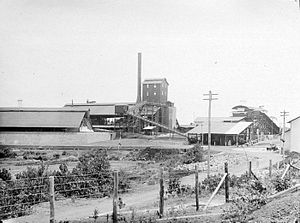 Belitung - Part of the plant of NV Billiton Maatschappij company in Belitung island (ca. 1939)