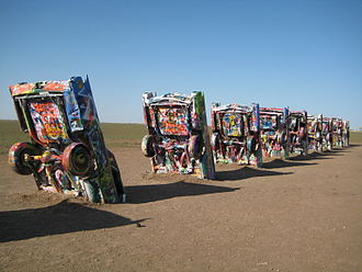 U.S. Route 66 in Texas - Cadillac Ranch in Amarillo