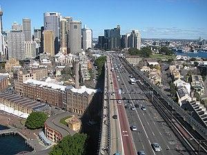 Bradfield Highway (Sydney) - Bradfield Highway, south-westerly aspect