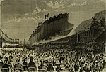 Caio Duilio (ship, 1880) - Launch - L'Illustrazione Italiana.jpg