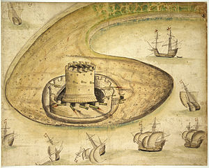 Calshot Castle - A 1539 depiction of the castle