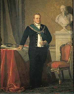 Camillo Benso, Count of Cavour - Official portrait of Camillo Benso in 1852.