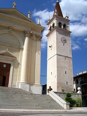 Montecchia di Crosara - the Campanile of the Duomo of Santa Maria in Montecchia di Crosara