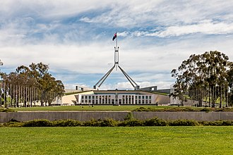 Parliament House in Canberra houses the Parliament of Australia Canberra (AU), Parliament House -- 2019 -- 1745.jpg
