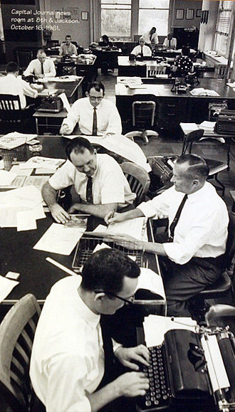The Topeka Capital-Journal - Capital-Journal newsroom, 1961