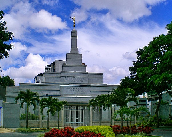 """""""Caracas Venezuela Temple"""" by Guillermo Ramos Flamerich - Own work (Personal Work). Licensed under Creative Commons Attribution 2.5 via Wikimedia Commons - https://commons.wikimedia.org/wiki/File:Caracas_Venezuela_Temple.jpg#mediaviewer/File:Caracas_Venezuela_Temple.jpg"""