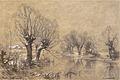 Carbonnel L. - Charcoal and chalk - Vue hivernale aux environs de Seurre (II) - 47x63cm.jpg