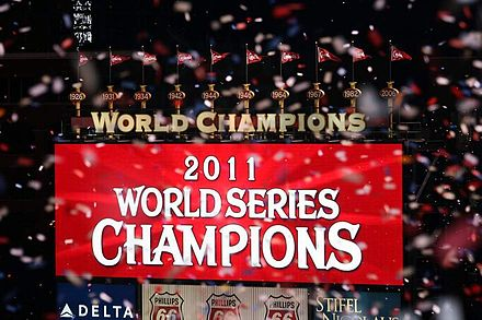 Busch Stadium scoreboard after Game 7. CardsChamps2.jpg