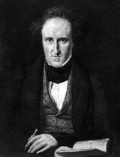 Carl Jonas Love Almqvist, cirka 1835.   Maling af Carl Peter Mazer.