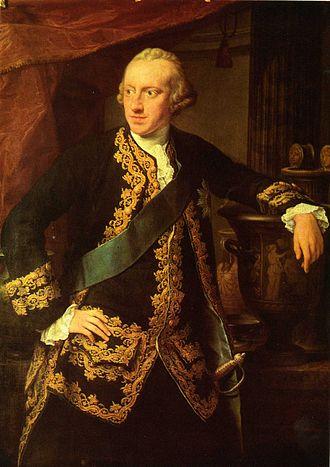 Charles William Ferdinand, Duke of Brunswick-Wolfenbüttel - Portrait of Charles William Ferdinand as Hereditary Prince by Pompeo Batoni, 1767.