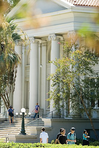 Liberal arts colleges such as Pomona College (pictured) generally offer exclusively undergraduate education. Carnegie Building.jpg