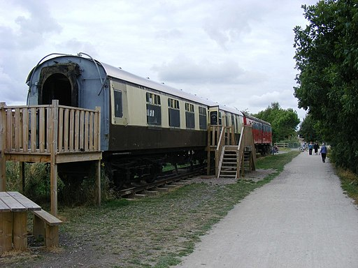 Carriages on The Stratford Greenway - geograph.org.uk - 1994571