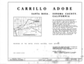 Carrillo Adobe, Santa Rosa, Sonoma County, CA HABS CAL,49-SANRO,1- (sheet 1 of 3).png