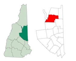 Lage im Carroll County in New Hampshire