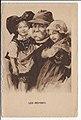 Carte postale estampe Georges Clemenceau et enfants symbolisant l'Alsace et la Lorraine.jpg